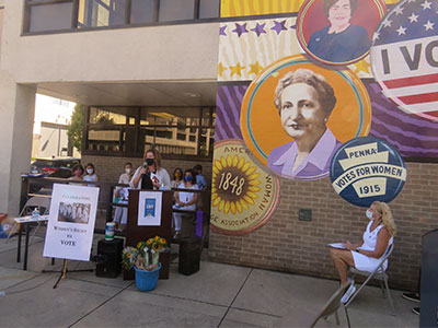 HACE Attends Dedication of the League of Women Voters Mural
